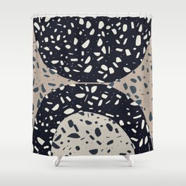 Terrazzo in semi circle Shower Curtain