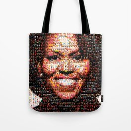 BEHIND THE FACE Michelle Obama | fat women Tote Bag
