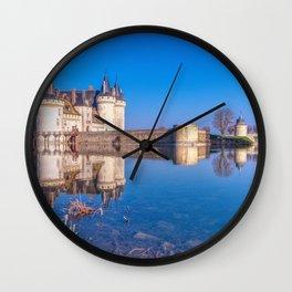 Famous medieval castle Sully sur Loire, Loire valley, France. Wall Clock