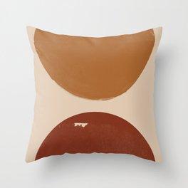 Burnt Orange Sun, New Boho Throw Pillow