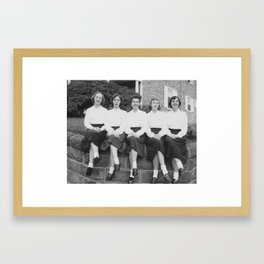 Sitting at the Chapter House Framed Art Print
