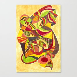waves in warm colors Canvas Print