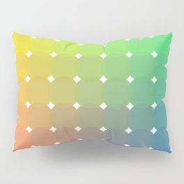 Color Circle Spectrum in Square Formation Pillow Sham