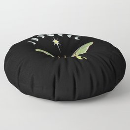 Luna moth and moon phases Floor Pillow