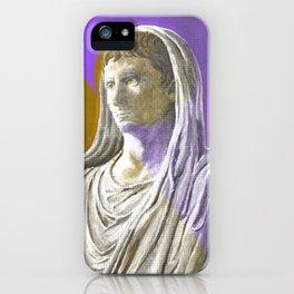 Augustus As Pontifex Maximus (Purple & Gold) iPhone Case