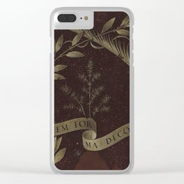"Leonardo Da Vinci ""Wreath of Laurel, Palm, and Juniper with a Scroll inscribed Virtutem Forma Decor"" Clear iPhone Case"