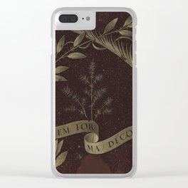 "Leonardo Da Vinci ""Wreath of Laurel, Palm, and Juniper with a Scroll inscribed Virtutem Forma Decor"" Clear iPhone Case"