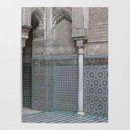 Marocco Columns Mosaic Poster