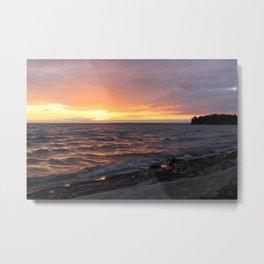 sunset on the sea Metal Print