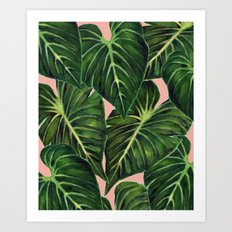 Tropical II Coral Art Print