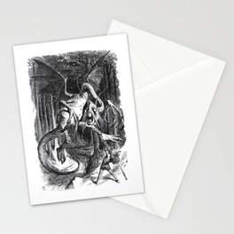 Jabberwocky Illustration from Alice in Wonderland Stationery Cards