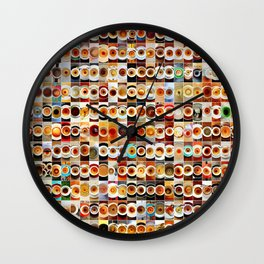 2013 in Empty Coffee Cups Wall Clock