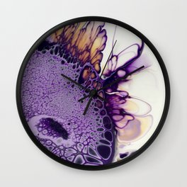 Purple flight Wall Clock