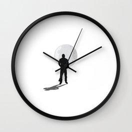 Walking into the Night Wall Clock