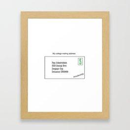 College Mailing Address Framed Art Print