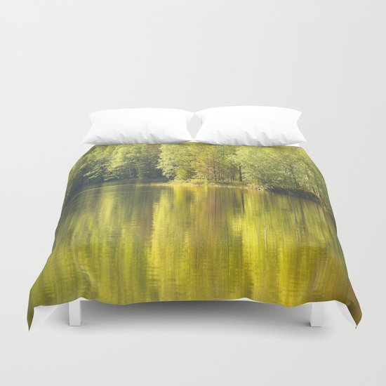 Summer Green Reflection  Duvet Cover