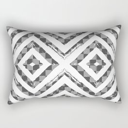 Grey Checkered Paattern Rectangular Pillow