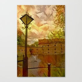 Old fort in the city of Kaliningrad Canvas Print