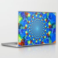 kaleidoscope Laptop & iPad Skins featuring Kaleidoscope  by haroulita
