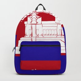 Cambodia flag emblem Backpack