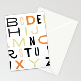 Eclectic Alphabet Stationery Cards