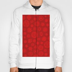 Red on Red Print Hoody