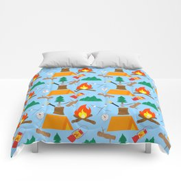 Let's Explore The Great Outdoors - Light Blue Comforters
