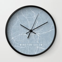 Winston-Salem Map, USA - Slate Wall Clock