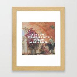 Lawrence Alma-Tadema, Unconscious Rivals (1893) / Halsey, Strangers ft. Lauren Jauregui (2017) Framed Art Print