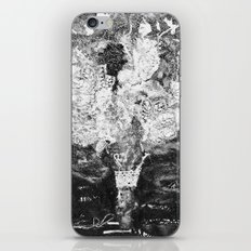RETRO LACE BOUQUET Black and White iPhone & iPod Skin
