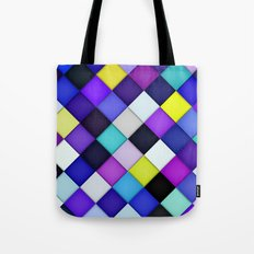 Quilted with Halftone Tote Bag