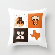 Austin, Texas Orange Throw Pillow