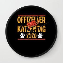 Cat, Cat Lover, Cat Mom, Cat Day 2020 Wall Clock