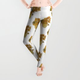 Sunflowers of Van Gogh Leggings