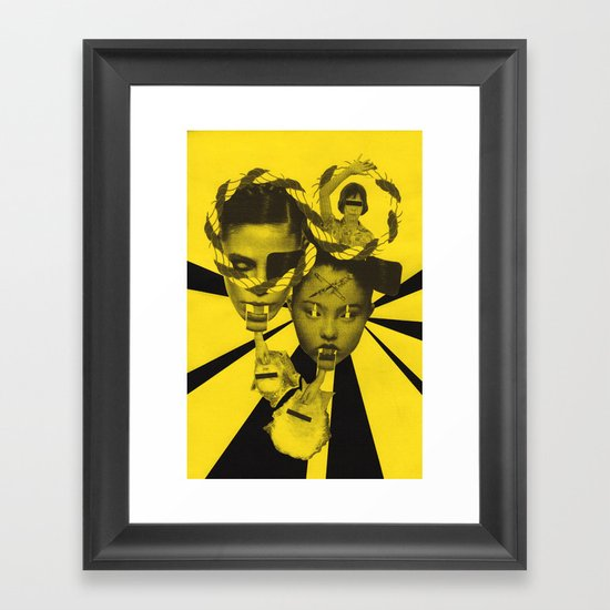 """I said NO."" Framed Art Print"