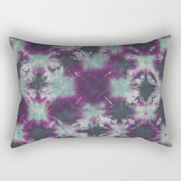 Fractal Tie Dye Purple Green Black Rectangular Pillow