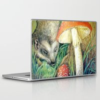 mushrooms Laptop & iPad Skins featuring Mushrooms by Natalie Berman