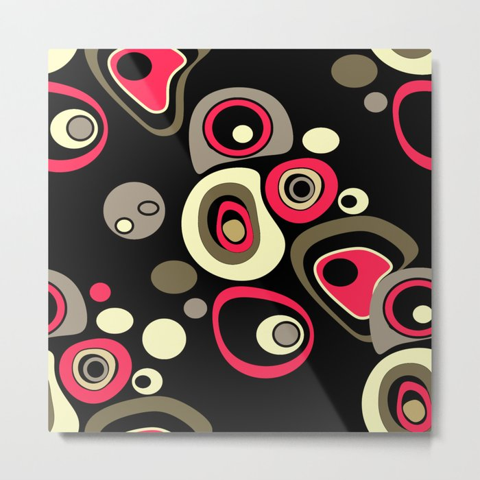 Abstract colorful polka dots pattern . Metal Print