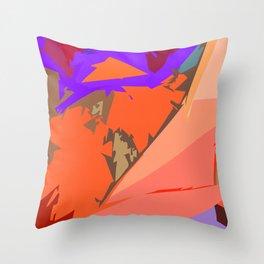 Look Ma! Purple Lights Ahead Throw Pillow