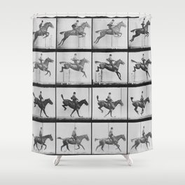 Man riding a horse Shower Curtain