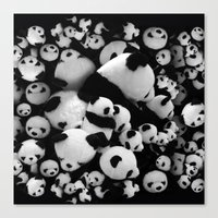 pandas Canvas Prints featuring Pandas by suvawear