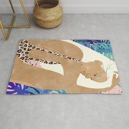 Jaguar Soul #illustration #portrait Rug