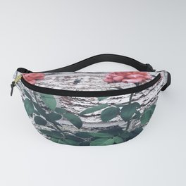 Roses by the brick wall Fanny Pack
