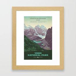 Yoho National Park Poster Framed Art Print