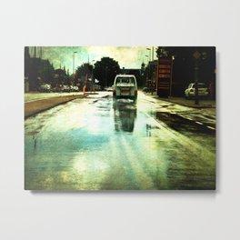 on a Dutch rainy day Metal Print