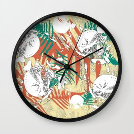 Abstract fern decorative print Wall Clock