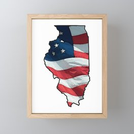 Patriotic Illinois Framed Mini Art Print