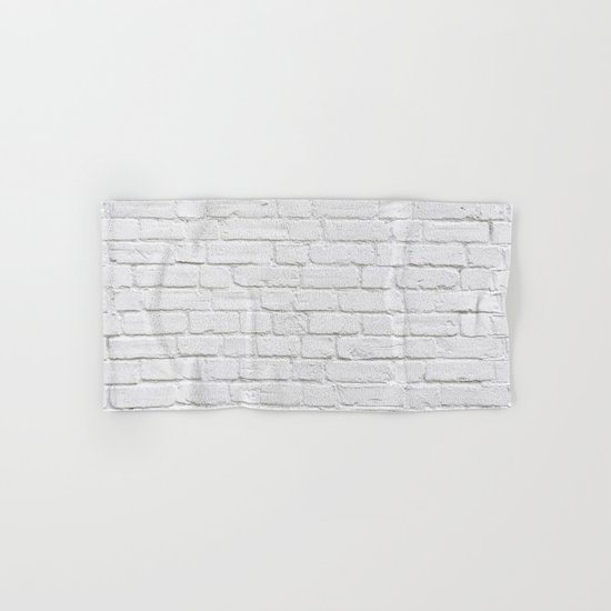 White Brick Wall Hand & Bath Towel