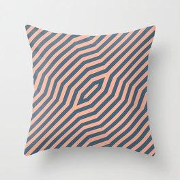 Symmetric diagonal stripes background 21 Throw Pillow