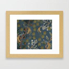 Blue Chinese Forest Framed Art Print